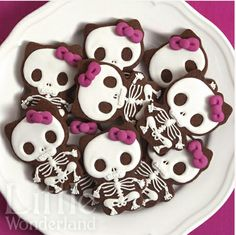 Cute skeletons from a Hello Kitty Cutter!