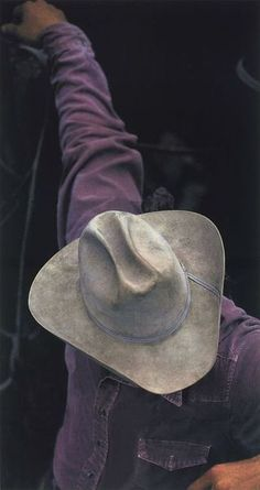 1f4ebceacc4 One well-worn hat. Ride em cowboy Rancho