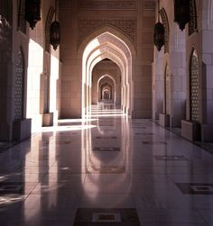 From the perimeter of the Sultan Qaboos Grand Mosque in Muscat, Oman.
