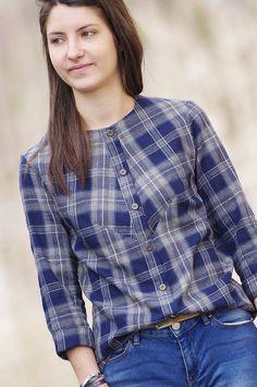 Ivanne.S   Nouveau patron Ivanne.S : VITAMINE [Femme] ou comment coudre une chemise originale pour femme ?