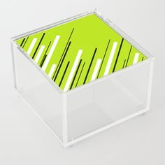 Diagonals - Lime Green Acrylic Box by laec Acrylic Display Box, Acrylic Box, Clear Acrylic, Good Advice For Life, Storage Places, Display Boxes, Spices, Lime, Just For You