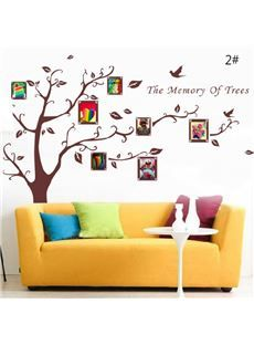 The Memory Of Tree with Photo Frame Wall Stickers