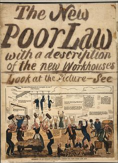 1834 poster responding to the New Poor Law - The British Library
