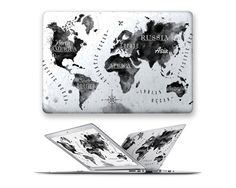macbook air hard case rubberized front hard cover for apple mac macbook air pro 11 12 13 15 ink world map