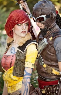 Cosplay of Lilith and Mordecai from Borderlands