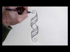 Tutorial filete porteño La cinta tirabuzón - YouTube Typography, Lettering, Calligraphy Letters, Zentangle, Art Nouveau, Lily, Monogram, Bullet Journal, Wall Art
