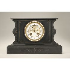 French marble mantle clock.