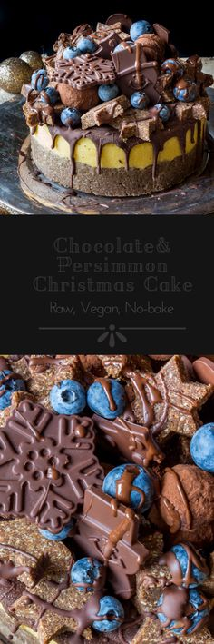 #raw #vegan Chocolate and Persimmon Christmas Cake from Deviliciously Raw