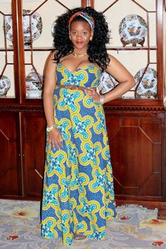 Strapless Ankara Maxi Dress. . . I would add a sweater. . .or something African American Fashion, African Inspired Fashion, African Print Fashion, African Prints, African Attire, African Dress, African Clothes, African Style, Ankara Maxi Dress
