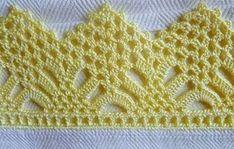 Easiest Crochet Frills Border Ever! Crochet Boarders, Crochet Edging Patterns, Crochet Lace Edging, Filet Crochet, Crochet Designs, Crochet Doilies, Crochet Flowers, Crochet Stitches, Crochet Girls