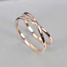 14K Rose Gold Infinity Ring, Eternity Band, Unique Wedding Band, sizes 9.25-12 this listing, Sea Babe Jewelry