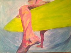Surf Art Process 3   Acrylique on 18 inch x 24 inch linen canvas