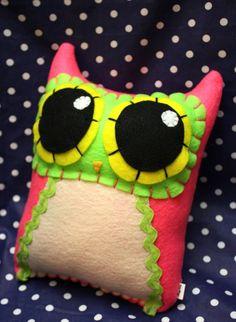 Owl Mama - Eco-friendly Felt Plush Owl via Etsy