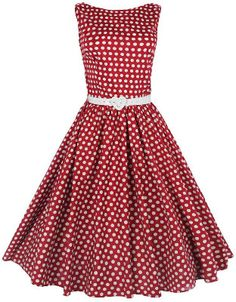 Vintage red and white polka dot dress