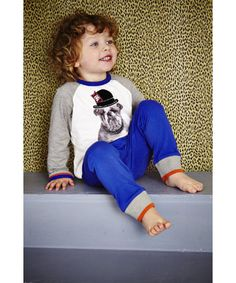 Keep warm and cosy at bedtime in these fabulous Baby K Bulldog pyjamas. Autumn/Winter 2013.
