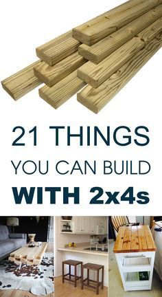 Here are 21 brilliant woodworking projects that begin with basic 2x4s: