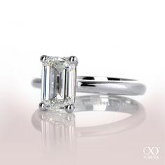 look at that beautiful smaragd cut diamond ring #yorxs #diamantring #weißgold