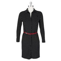 Anne Klein Petite Leo Legacy Polka Dotted Dress