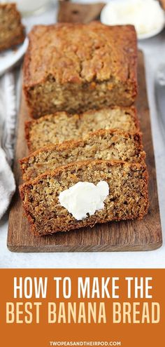 Tips For Turning Your Brown Bananas Into The Best Banana Bread EVER! This Classic Banana Bread Recipe Is Easy To Make And A Family Favorite! It Is Guaranteed To Be Your Go To Banana Bread Recipe! Make this easy banana bread now and see for yourself! #banana #bread #bananabread