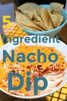 Easy Nacho Dip recipe - just 5 ingredients it is quick to make up and keeps well in the fridge for up to 5 days, if it lasts that long! Yummy Appetizers, Appetizer Recipes, Snack Recipes, Free Recipes, Easy Recipes, Easy Nacho Dip Recipe, Layered Nacho Dip, Party Dip Recipes, Healthy Dips