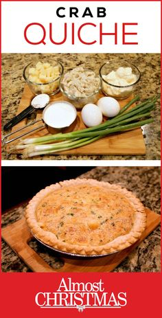 Here's A Holiday Crab Quiche Recipe That Your Entire Family Will Love! Will you have a full house for the holidays like the family in the movie Almost Christmas (premieres Nov If so, this crab quiche recipe will not disappoint. Crab Dishes, Seafood Dishes, Seafood Recipes, Cooking Recipes, Canned Crab Recipes, Seafood Quiche, Crab Quiche, Breakfast Quiche, Breakfast Recipes