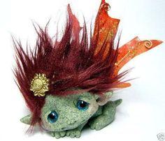 "OOAK Fall Faerie Dragon Trollfling Troll doll ""Autumn"" by Amber Matthies"
