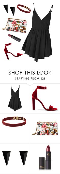 """""""On fl33k"""" by m-phil ❤ liked on Polyvore featuring Glamorous, Yves Saint Laurent, Gucci, Alexis Bittar, Lipstick Queen and contestentry"""