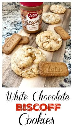 two points for honesty: biscoff white chocolate chip cookies - Baking - Healt and fitness Biscoff Recipes, Baking Recipes, Cookie Recipes, Dessert Recipes, White Chocolate Chip Cookies, Homemade Chocolate, Easy Chocolate Desserts, Biscoff Cookie Butter, Gastronomia
