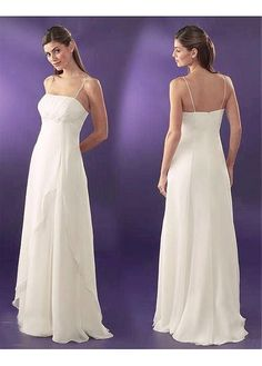 LACE BRIDESMAID PARTY BALL EVENING GOWN IVORY WHITE FORMAL PROM CHIFFON STRAPLESS WEDDING DRESS