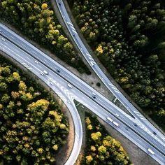 Forest highway  #aerial #forest #highway