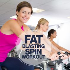 Hop on the spin bike and complete this Fat Blasting Spin Workout this week! Fitness Tips, Health Fitness, Fitness Fun, Fitness Exercises, Spinning Workout, Workout Calendar, Lose Weight, Weight Loss, Love Handles