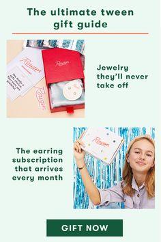 Tween Gifts, Earring Box, Nickel Free Earrings, Gift List, Giving, Feel Good, Gift Guide, Gift Ideas, Feelings