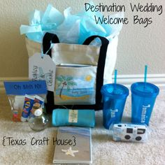 Texas Craft House Destination Wedding Welcome Bags