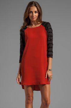 Line & Dot Embellished Raglan Dress on shopstyle.com