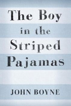 """Bored and lonely after his family moves from Berlin to a place called """"Out-With"""" in 1942, Bruno, the son of a Nazi officer, befriends a boy in striped pajamas who lives behind a wire fence.-want to read"""