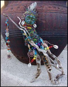 Sea Spirit - Driftwood Spirit Doll - Mermaid by andromeda.deviantart.com on @deviantART