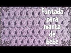 Puntada fácil para cobijita de bebe en gancho #44 - YouTube