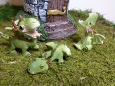 Darling Little Miniature Dragons!! Ideal for Guarding Those Miniature Castles and Towers in your Fairy Garden...  These Fairy Garden Miniatures are