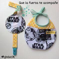 Pack babero chupetero Star wars