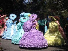 Azalea trail maids at the annual Azalea trail festival in Mobile, Alabama c. 2012.