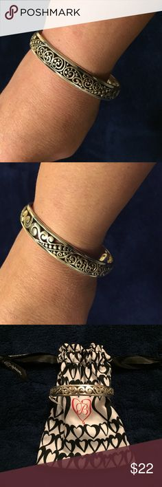 Brighton Love Affair Bangle Bracelet Silver bangle bracelet. Brand new, never worn, with tags attached! Dust bag included! Brighton Jewelry Bracelets