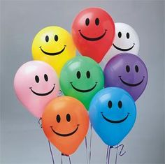 Inch Smiley Face Balloons Parties Emoji All Occasions Decoration Birthday UK Orange Balloons, Rainbow Balloons, Helium Balloons, Fun Arts And Crafts, Chandler Bing, Birthday Party Decorations, Easy Drawings, Smiley, Rainbow Colors