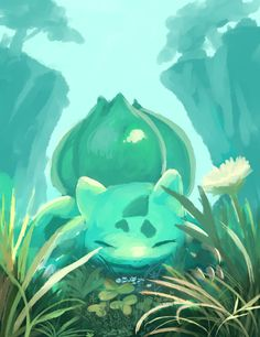 Bulbasaur in the Woods