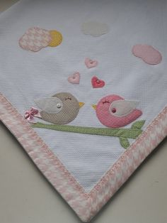 69 Ideas Baby Blanket To Sew Appliques Quilt Baby, Baby Quilt Patterns, Applique Patterns, Applique Designs, Baby Applique, Baby Embroidery, Best Baby Blankets, Knitted Baby Blankets, Baby Bunting