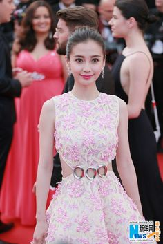 Chinese actress Angelababy on the red carpet as she arrives for the opening ceremony of the 68th Cannes Film Festival in Cannes, France, on May 13, 2015 http://www.chinaentertainmentnews.com/2015/05/angelababy-on-red-carpet-in-cannes.html