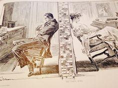 Antique Gibson Girl Art Print Charles Dana Gibson by RareBooks