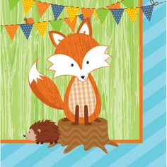 Forest Fox 2 Ply Lunch Napkins/Case of 192
