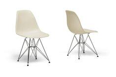 Baxton Studio Baxton Studio Beige Plastic Side Chair | Affordable Modern Furniture in Chicago
