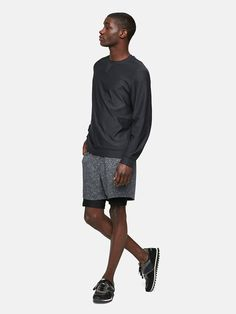 Midweight long sleeve with crewneck. Just add trailmix.