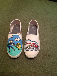 Adventure Time Hand-Painted Shoes by HandmadebyFoxieB on Etsy